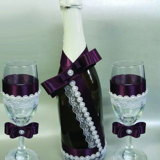 Шампанско с чаши 01