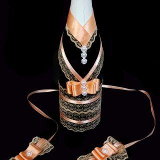 Шампанско с украса за чаши