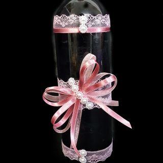 Украсено вино за кръщене 01