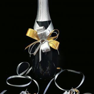 Украса за шампанско и чаши 05