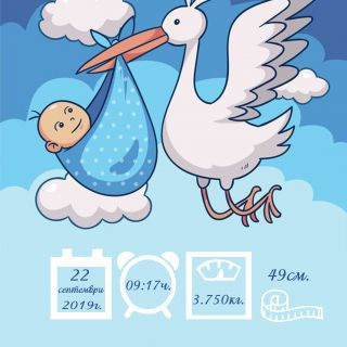 Бебешка визитка 1